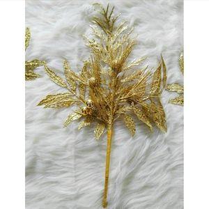 3 Large Gold Leaf Decorations